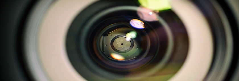 A close-up of a camera lense.